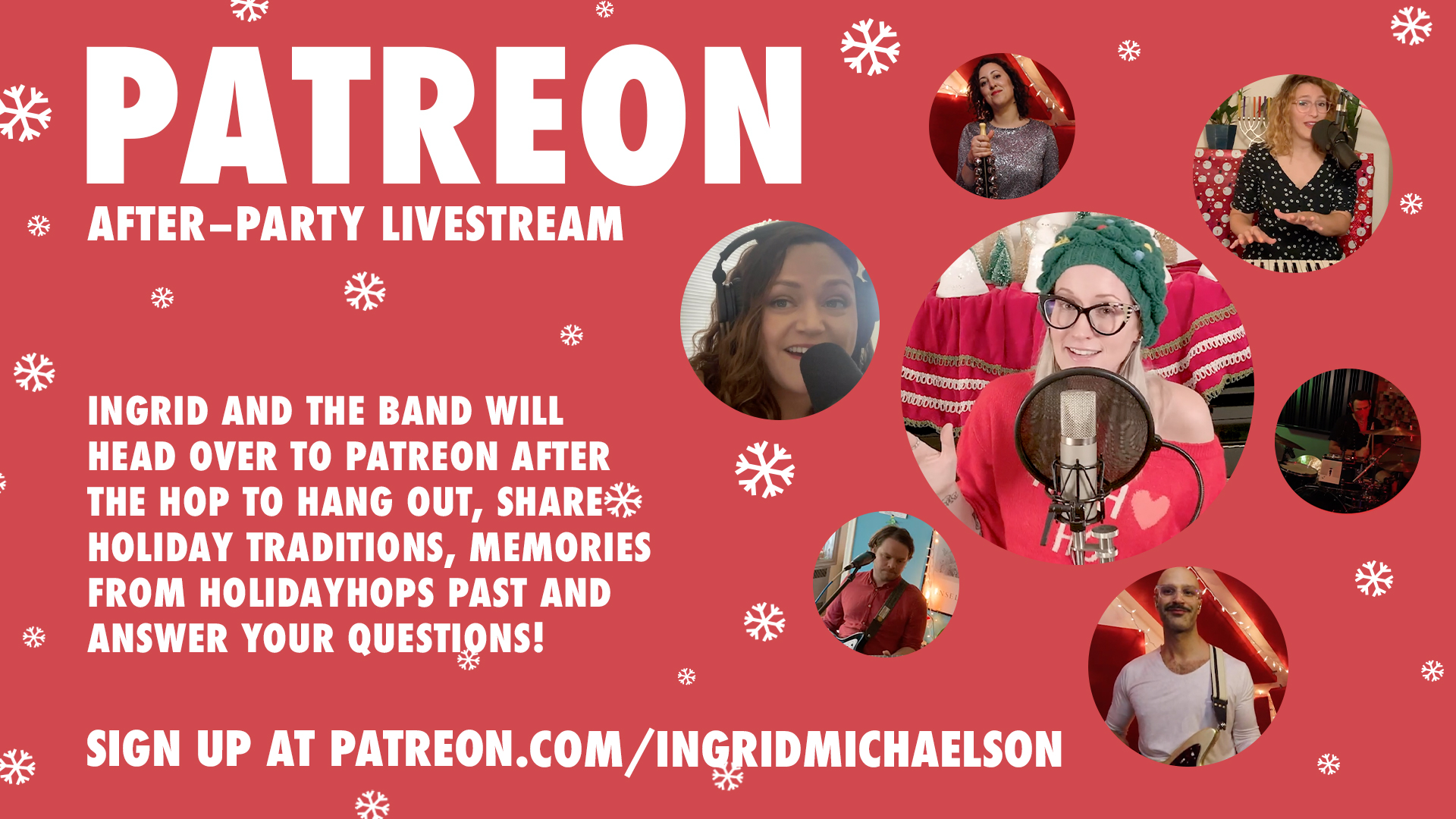 Ingrid Michaelson Holiday Hop Patreon After Party